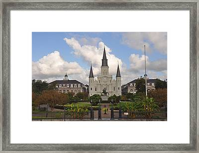 Jackson Square New Orleans Framed Print by Bill Cannon