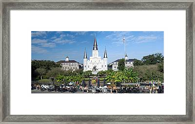 Jackson Square Panorama Framed Print by Jim Chamberlain