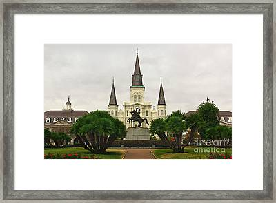Jackson Square Framed Print by Perry Webster