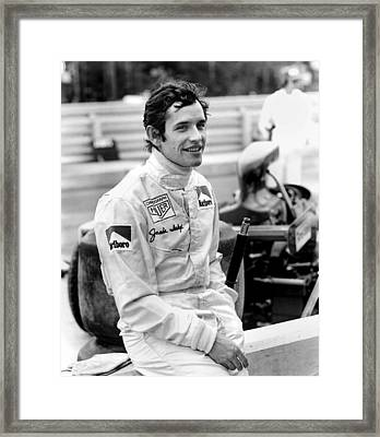 Jacky Ickx Framed Print by Mike Flynn
