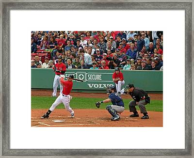 Jacoby Ellsbury Framed Print by Juergen Roth