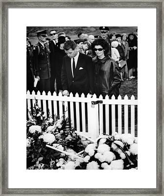 Jacqueline Kennedy And Attorney General Framed Print