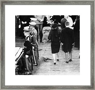 Jacqueline Kennedy And Robert Kennedy Framed Print