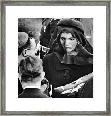 Jacqueline Kennedy At President John Framed Print by Everett