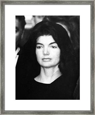 Jacqueline Kennedy At The Lying Framed Print