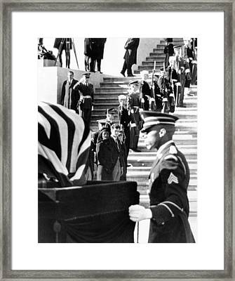 Jacqueline Kennedy, In A Widows Veil Framed Print by Everett