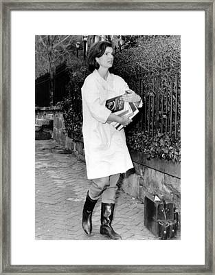 Jacqueline Kennedy, Moving Into Her New Framed Print by Everett