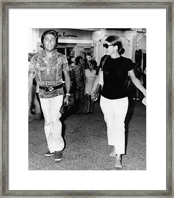 Jacqueline Kennedy Onassis And Fashion Framed Print by Everett