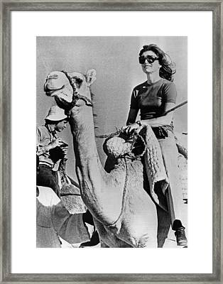 Jacqueline Kennedy Onassis Riding Framed Print by Everett