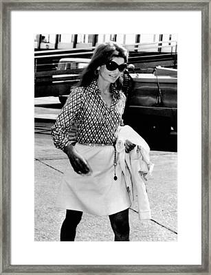Jacqueline Kennedy Onassis Walks Framed Print