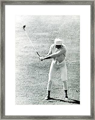 Jacqueline Kennedy, Playing Golf Framed Print by Everett