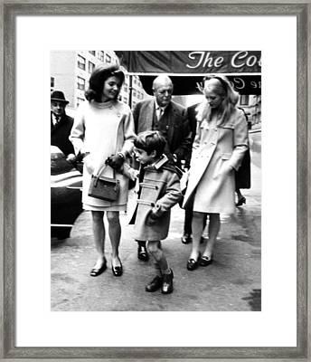 Jacqueline Kennedy, Randolph Churchill Framed Print by Everett