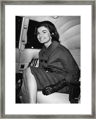 Jacqueline Kennedy, Visiting New York Framed Print by Everett