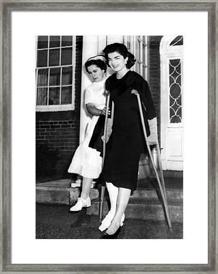 Jacqueline Kennedy, Wife Of Senator Framed Print by Everett