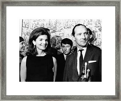 Jacqueline Kennedy With David Framed Print by Everett