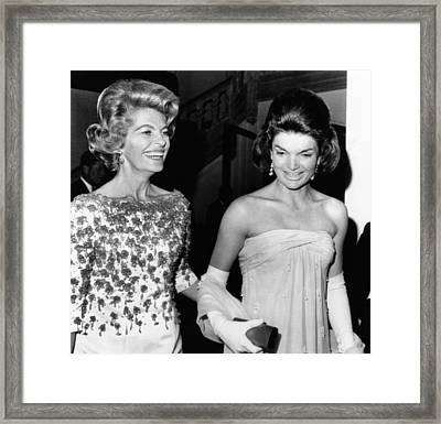 Jacqueline Kennedy With The Wife Framed Print by Everett