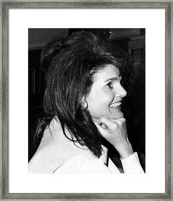 Jacqueline Onassis Watching Framed Print by Everett