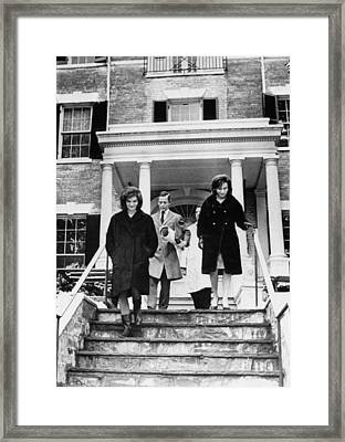 Jacqueline Onassis, With Interior Framed Print by Everett