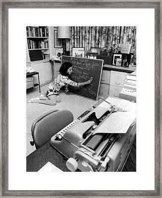 Jacqueline Susann Charting Framed Print