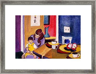 Jacquie And Jon Framed Print by Betty Pieper