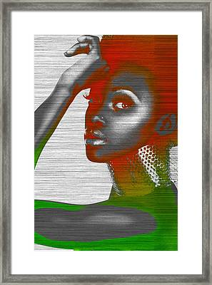 Jada Framed Print by Naxart Studio