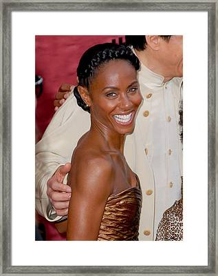Jada Pinkett Smith At Arrivals For The Framed Print