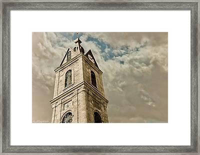Jaffa Clocktower Framed Print by Amr Miqdadi