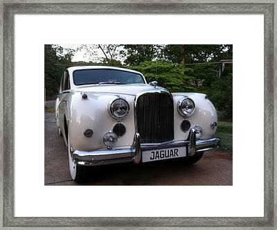 Framed Print featuring the photograph Jaguar 1959 by Elizabeth Coats
