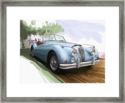 Jaguar X K 140 Framed Print by RG McMahon