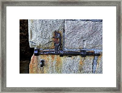 Jail Bolt Framed Print by Kaye Menner