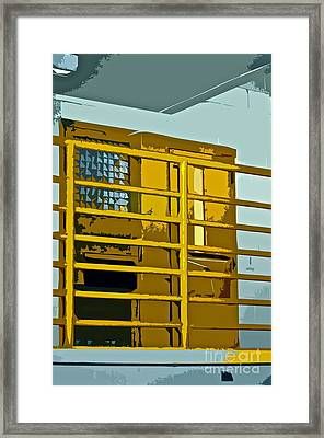 Jail Cell Framed Print by Gwyn Newcombe