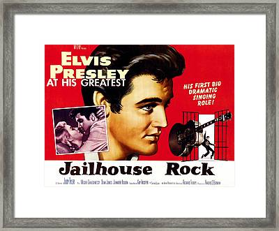 Jailhouse Rock, Elvis Presley, 1957 Framed Print by Everett
