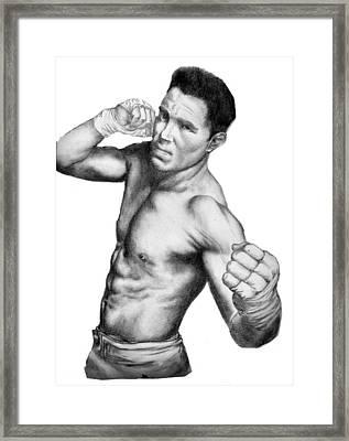 Jake Shields - Strikeforce Champion Framed Print by Audrey Snead