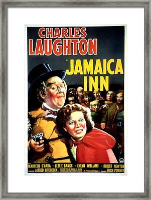 Jamaica Inn, Charles Laughton, Maureen Framed Print by Everett