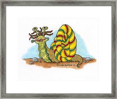 Jamaican Snail Framed Print