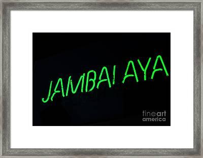 Jambalaya Framed Print