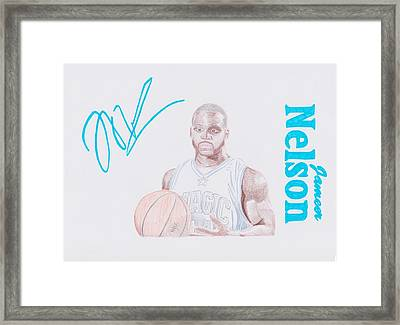 Jameer Nelson Framed Print by Toni Jaso