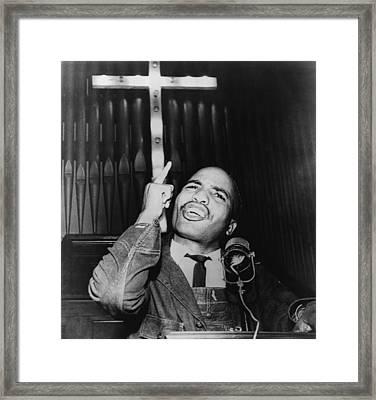 James Bevel 1936-2008 Speaking Framed Print by Everett