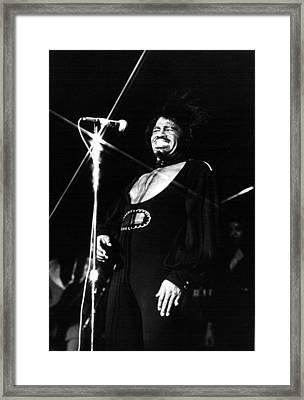 James Brown, In Concert 2121974 Framed Print by Everett