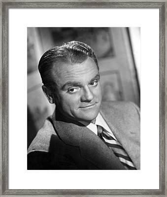 James Cagney, Portrait, 1940s Framed Print by Everett