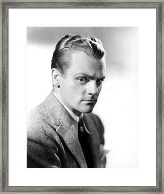 James Cagney, Portrait Framed Print by Everett