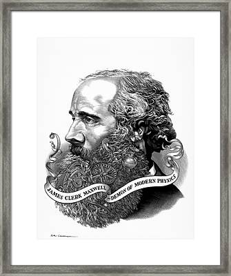 James Clark Maxwell With His Demon Framed Print