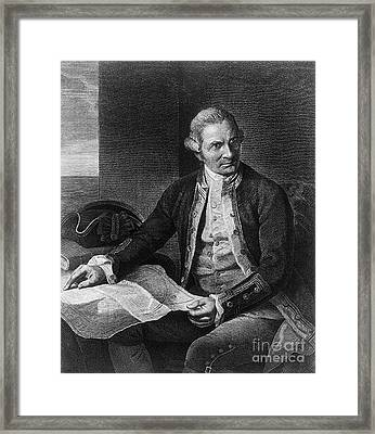 James Cook, English Explorer Framed Print by Photo Researchers