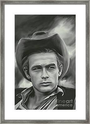 James Dean   Framed Print by Andrzej Szczerski