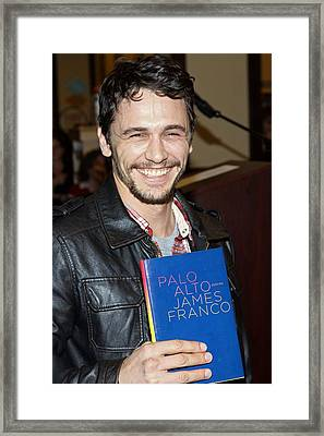 James Franco At In-store Appearance Framed Print by Everett
