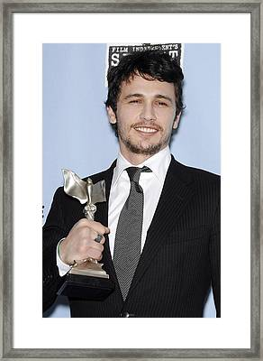 James Franco In The Press Room Framed Print by Everett