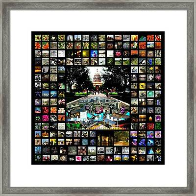James Granberry Instagram Collage Framed Print