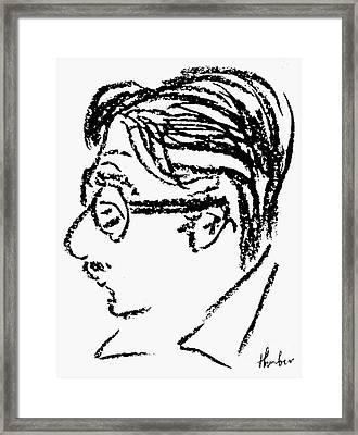 James Grover Thurber Framed Print by Granger