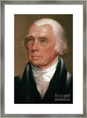James Madison, 4th American President Framed Print by Photo Researchers