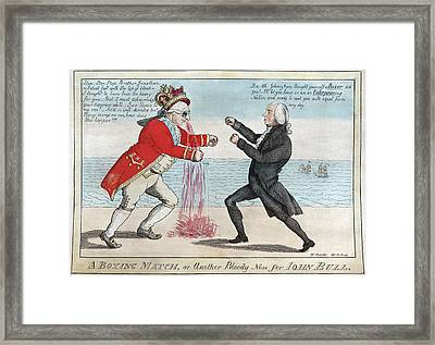 James Madison, A Boxing Match, Or Framed Print by Everett